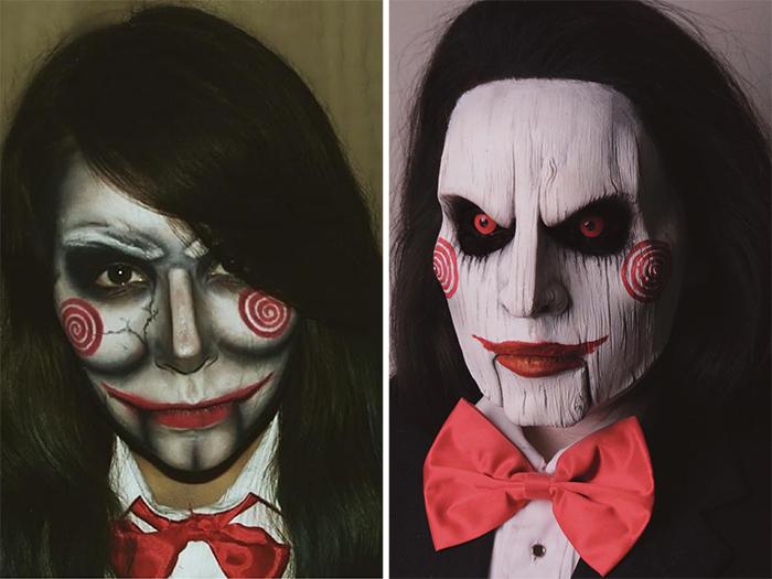 comparison images sfx makeup progress