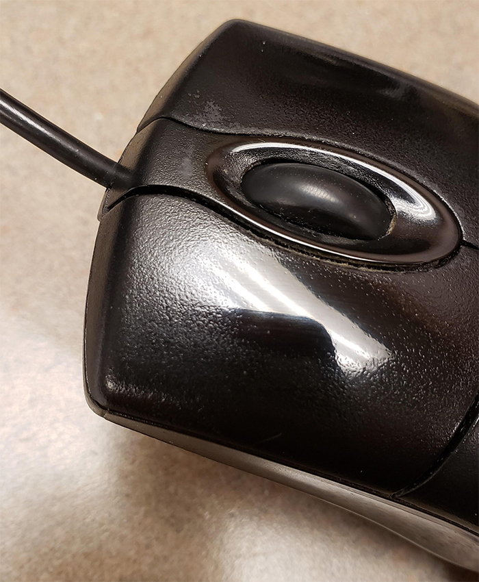 computer mouse click mirror finish