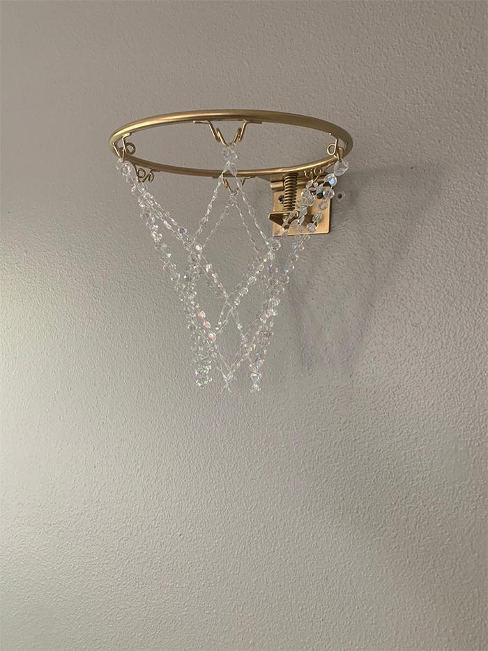crystal basketball hoop chandelier mini