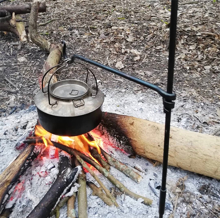 forged steel campfire cooking equipment