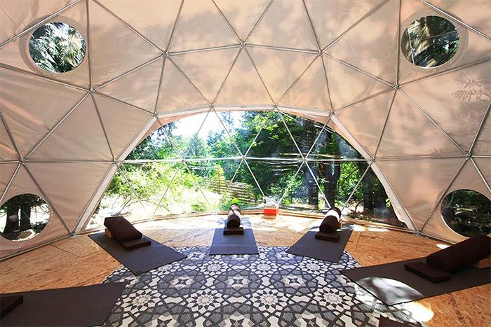 geodesic dome tent interior