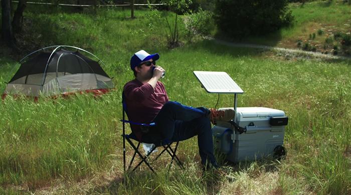 gosun chillest portable chiller solar table attachment