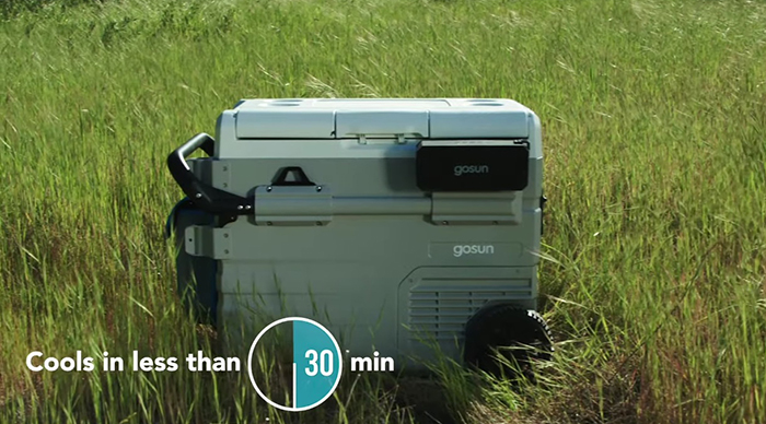 gosun chillest solar-powered cooler fast cooling feature