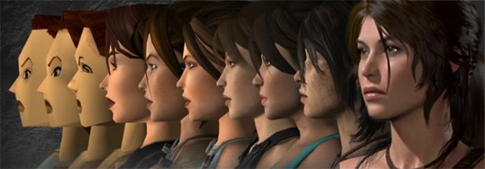 graphical evolution of lara croft