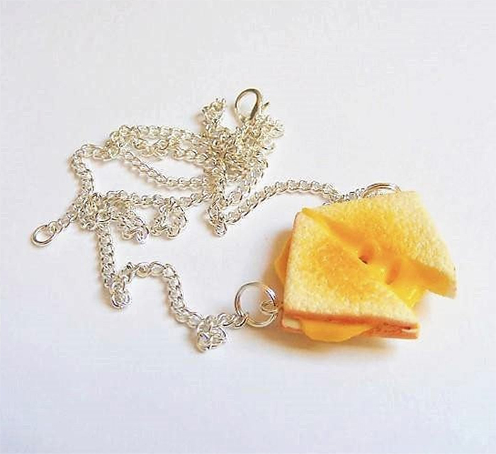 grilled cheese necklace