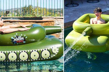 inflatable pool tanks