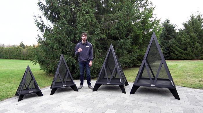 iron embers pyramid bonfire pit size variants