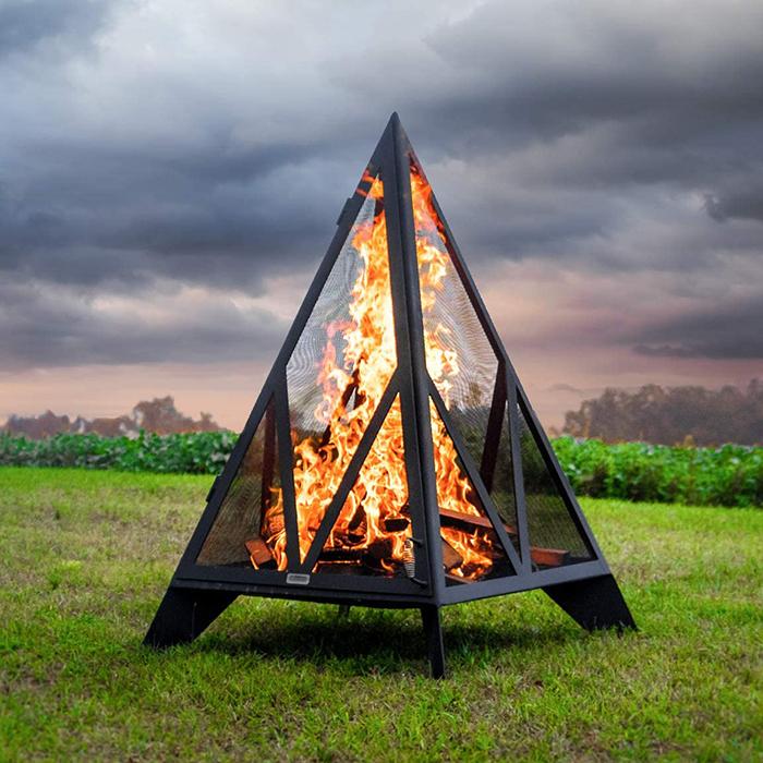 iron embers pyramid bonfire pit