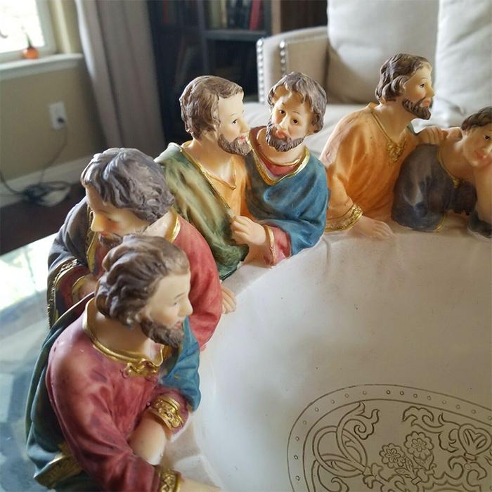 jesus and apostles sculpture decorative utensil