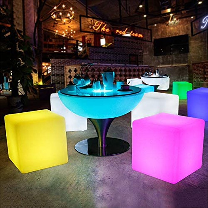 led cube chair light-up seats