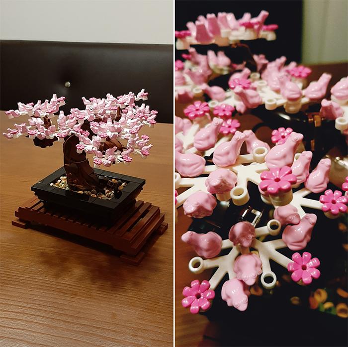 lego bonsai cherry blossom frogs
