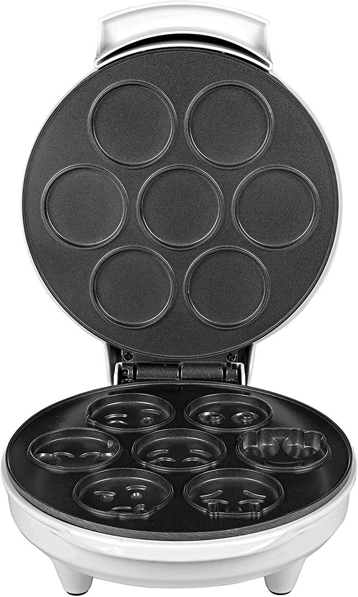 mini emojis waffle maker nonstick surface