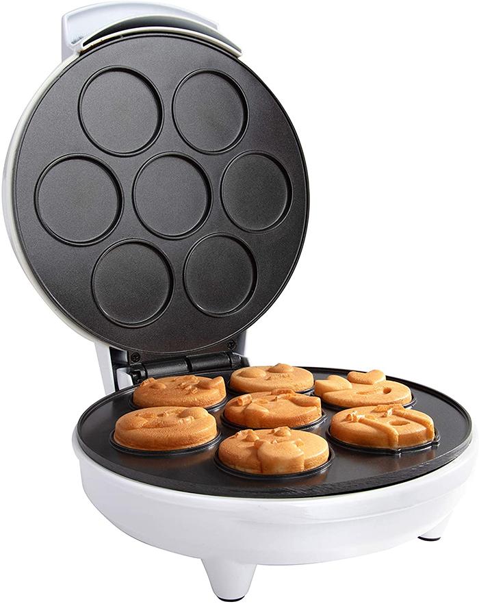 mini emojis waffle maker pre-shaped molds