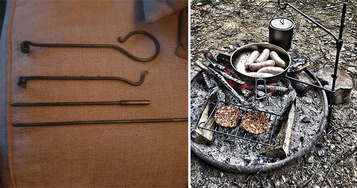 pan mini fire anchor campfire cooking