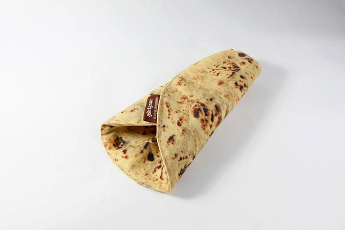 pita bread inspired pencil holder