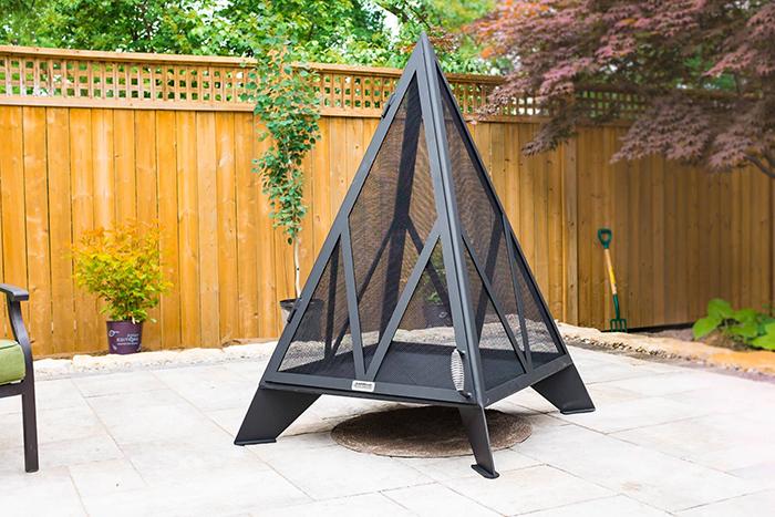 pyramid bonfire pit