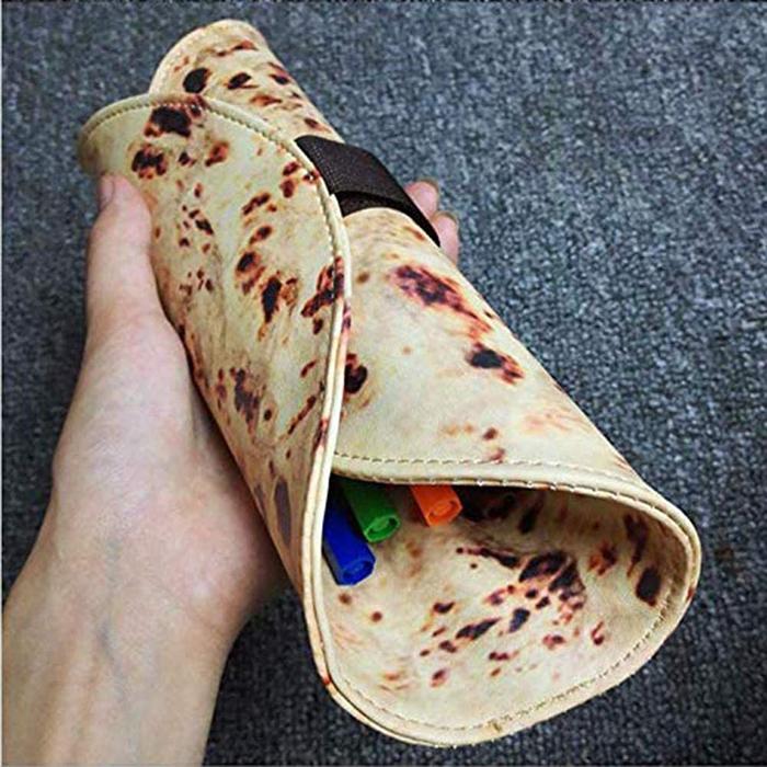 realistic burrito style roll up pen organizer