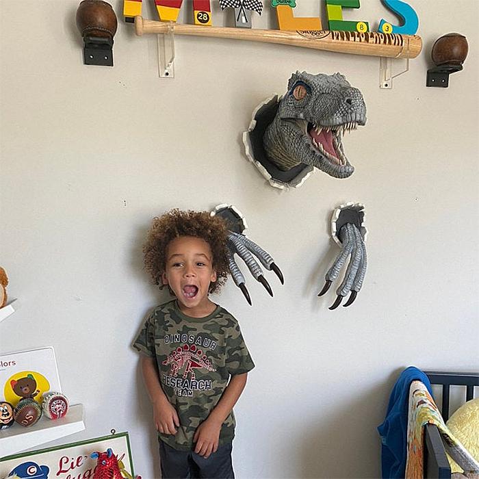realistic velociraptor prop replica decor