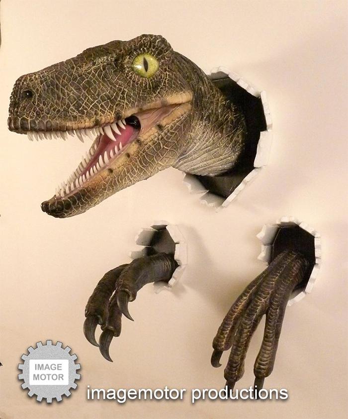 realistic velociraptor prop replica