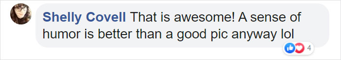 shelly covell facebook comment on photos of guy with actual filters