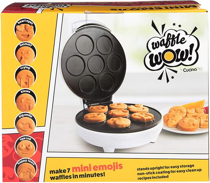 smiley faces nonstick waffler