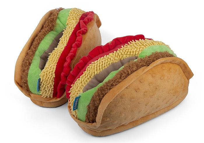 taco slippers slip-on design