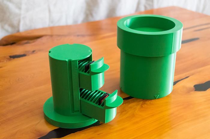 whopper printing mario warp pipe nintendo switch game card holder
