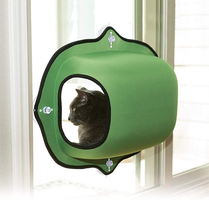 window-mounted kitty pod