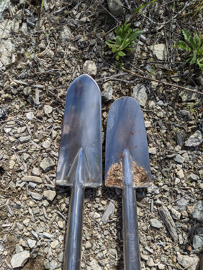 worn down over time overused shovel