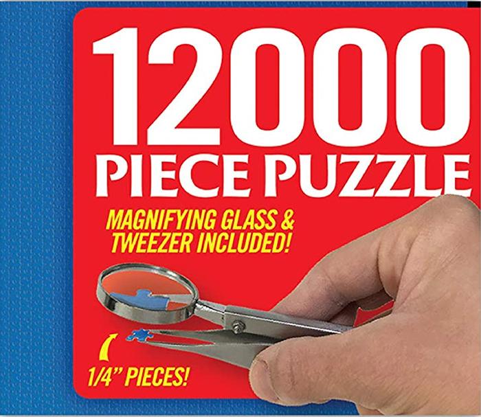 12000 piece jigsaw puzzle prank gift box