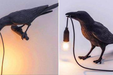 Black Crow Table Lamp