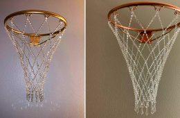 Crystal Basketball Hoop Chandelier