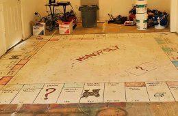 Giant Monopoly Board on floor