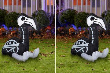 Inflatable Skeleton Flamingo