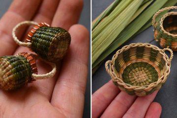 Miniature Handwoven baskets