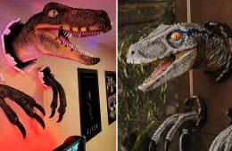 Wall Bursting Velociraptor