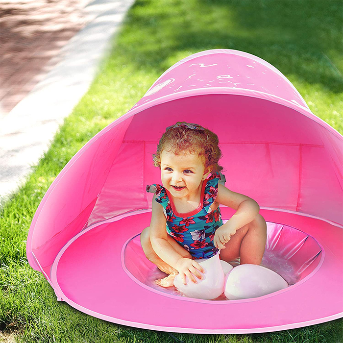 baby pool beach tent outdoors