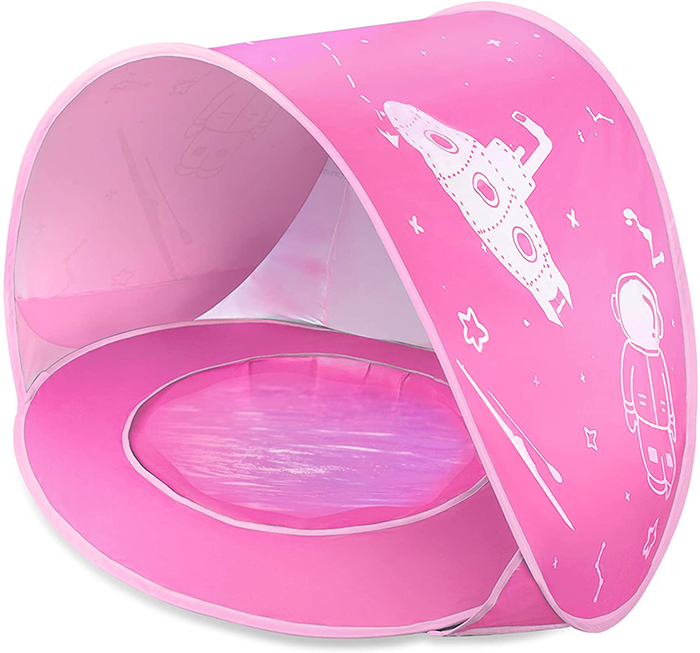 baby pool beach tent pink