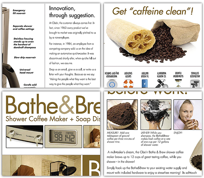 bathe & brew prank gift box details