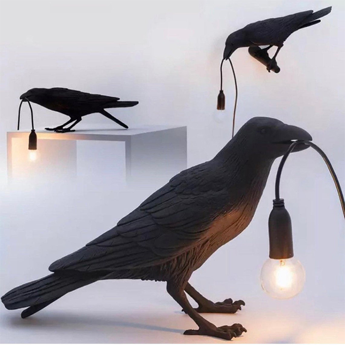 bird sculpture lighting fixture