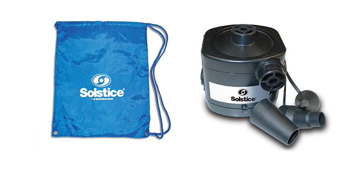 carry bag and deluxe air pump