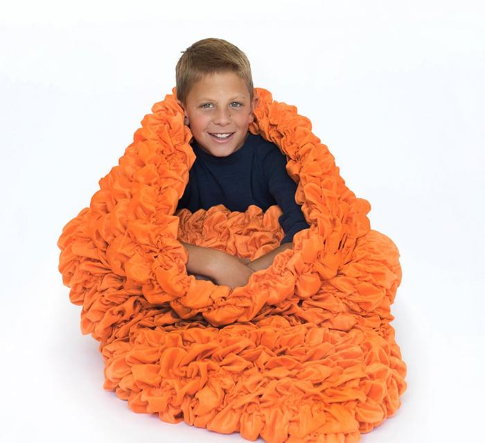 cocoon sleeping bag kids orange