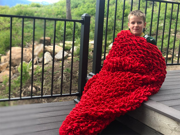 cocoon sleeping bag red for kids