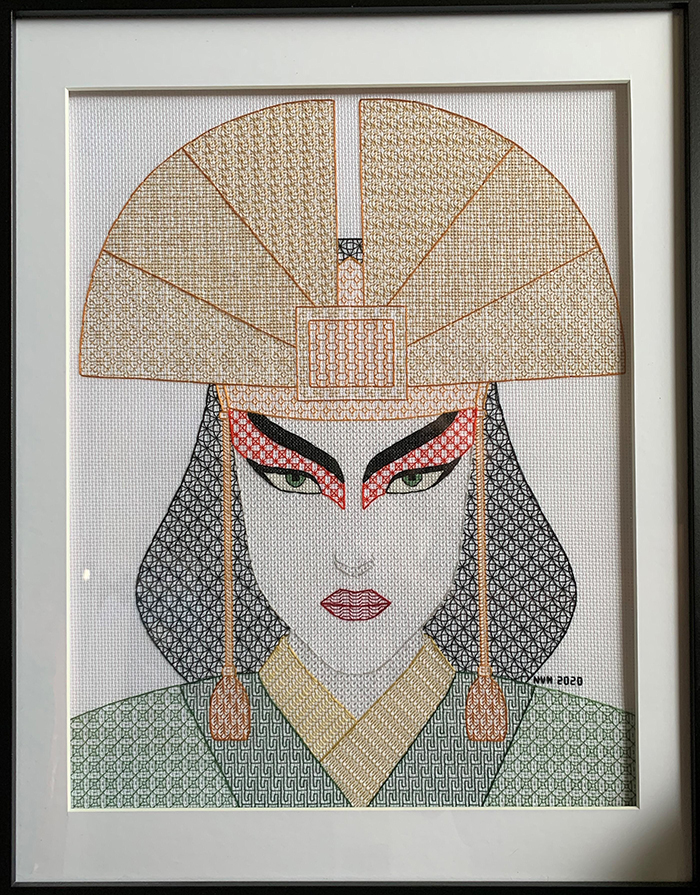 counted-thread embroidery art blackwork kyoshi