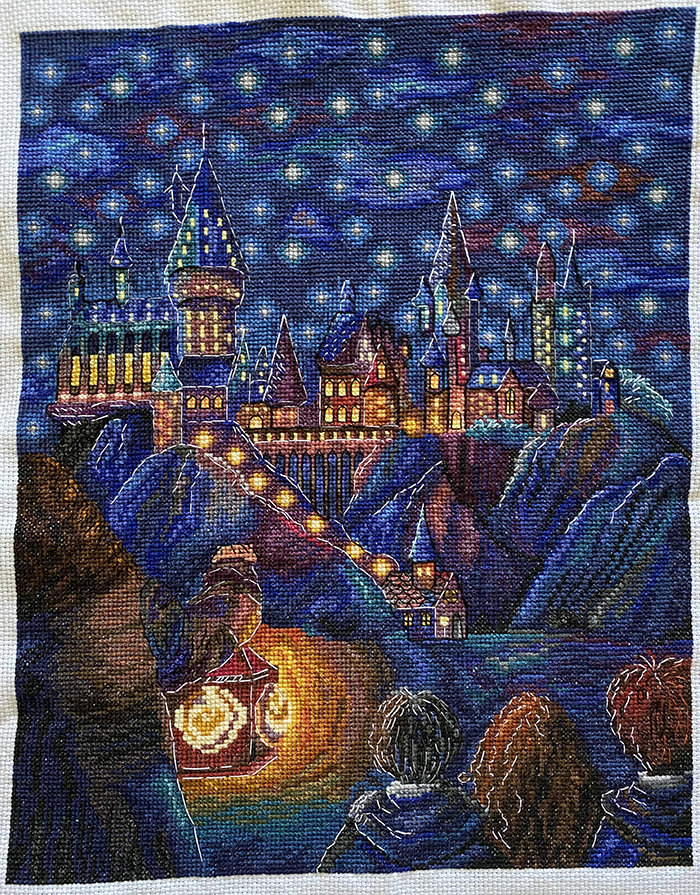 counted-thread embroidery art hogwarts the first meeting