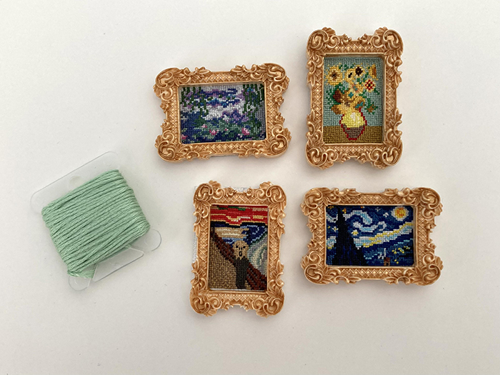 counted-thread embroidery art miniature paintings