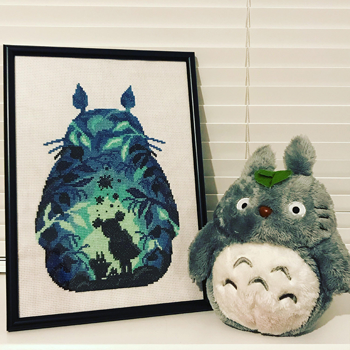 counted-thread embroidery art my neighbor totoro