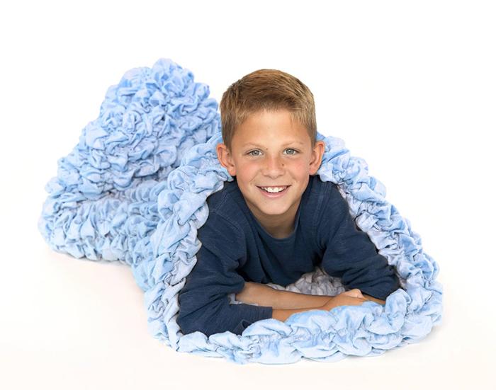 cozy sleep sack blue