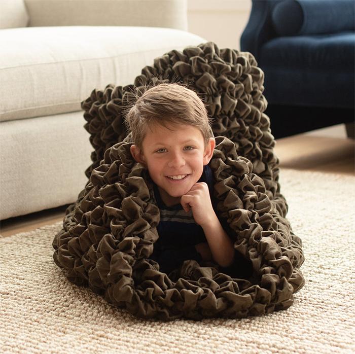 cozy sleep sack for kids brown