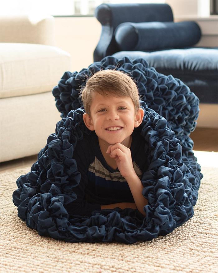 cozy sleep sack for kids navy
